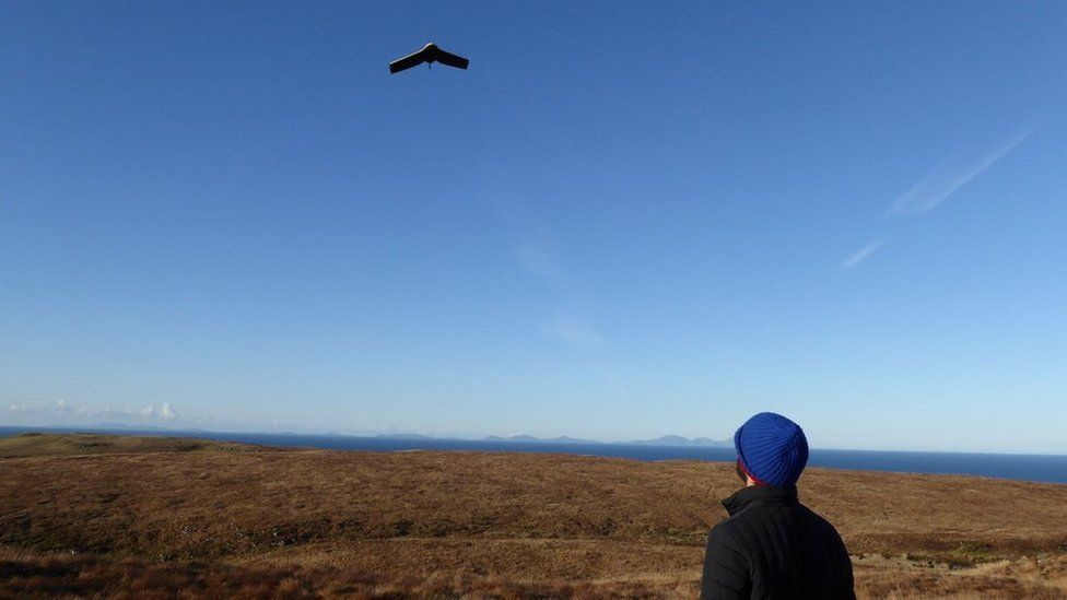 Drone being flown in the Small Isles