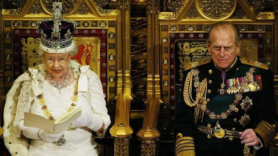 The Queen and Duke of Edinburgh at the 2013 State Opening of Parliament