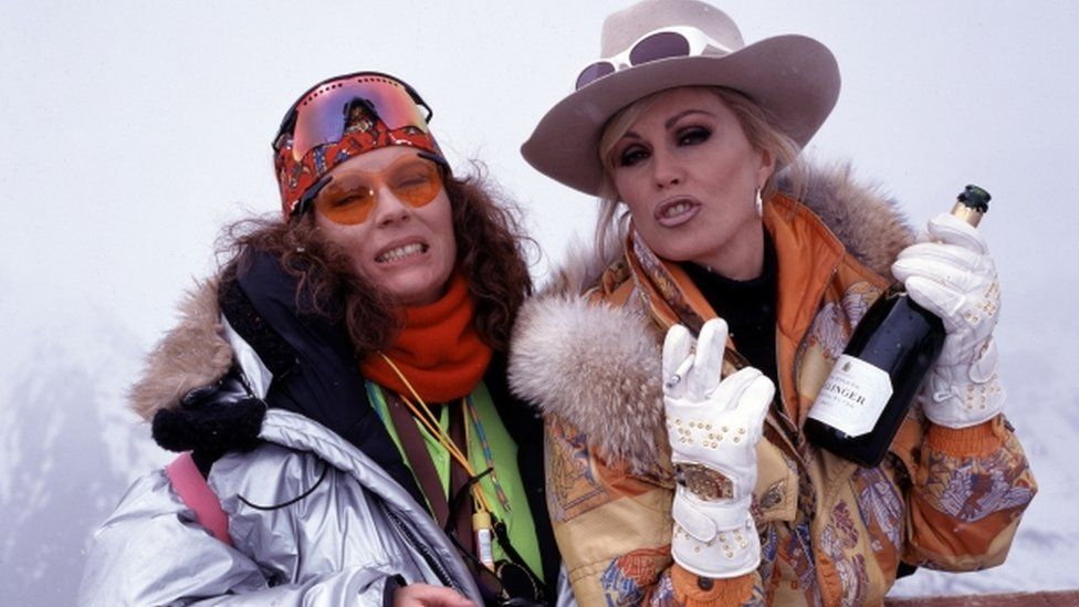 Jennifer Saunders as Edina and Joanna Lumley as Patsy in Absolutely Fabulous