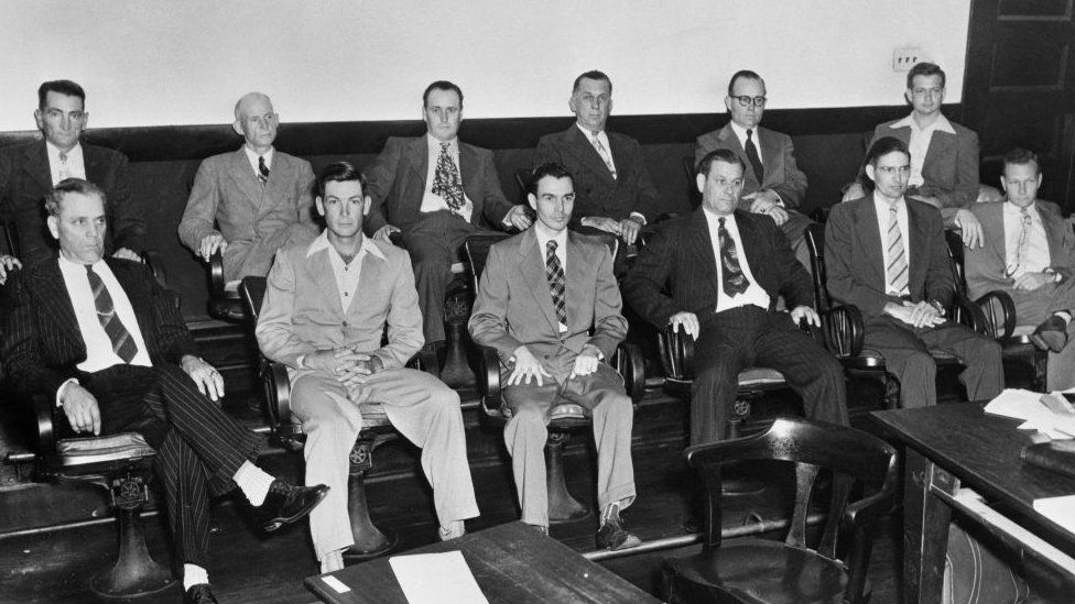 The jury for the retrial of Walter Irvin in 1952