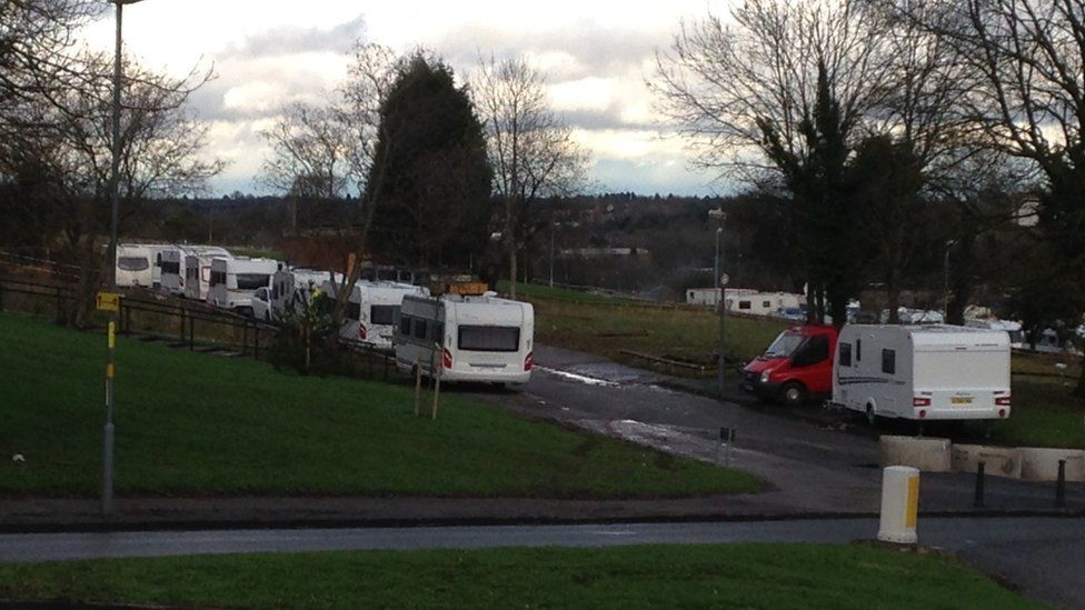The travellers are believed to have moved to a site in Kings Norton, Birmingham