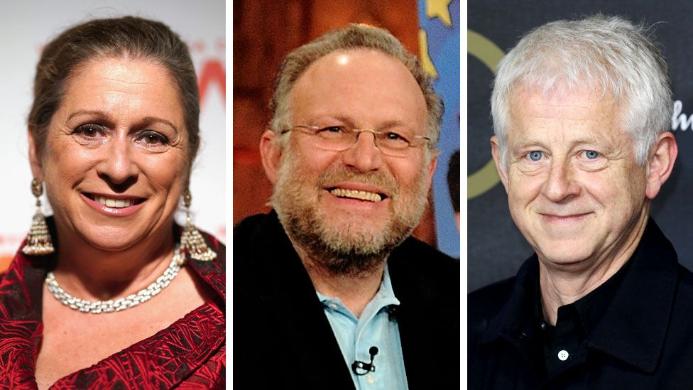 Abigail Disney (left), Jerry Greenfield and Richard Curtis