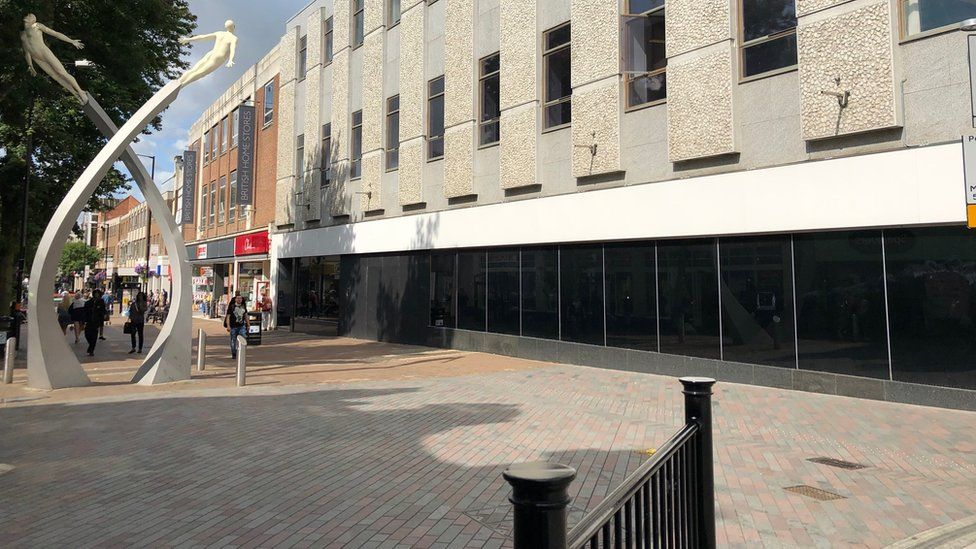Site of the the former Marks and Spencer store in Northampton