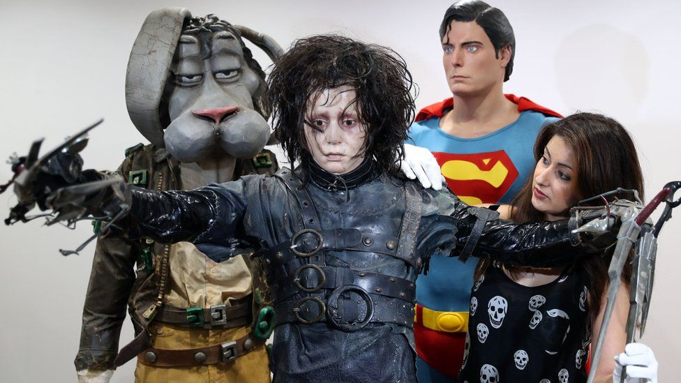 Johnny Depp's Edward Scissorhands outfit and and Christopher Reeve's Superman