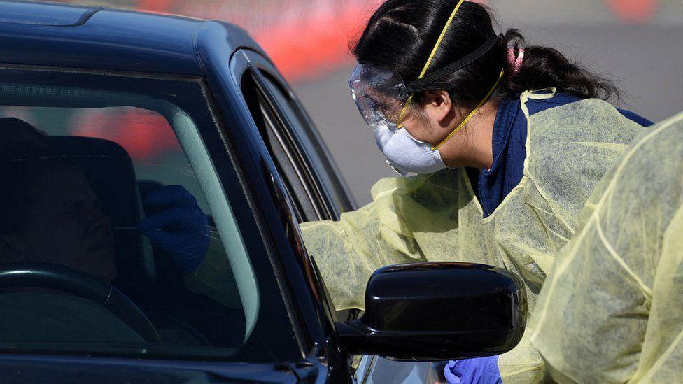 California state drive thru testing facility
