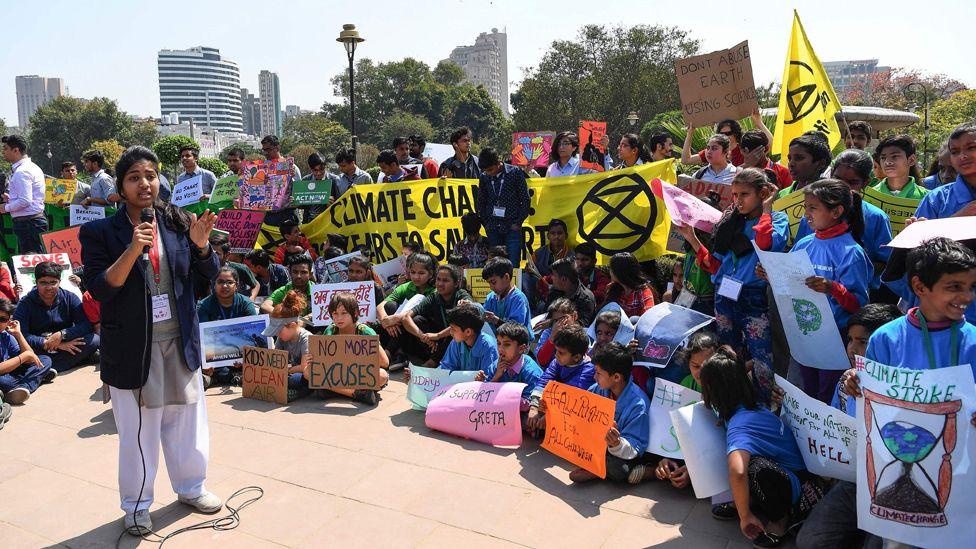 Climate protest in Delhi