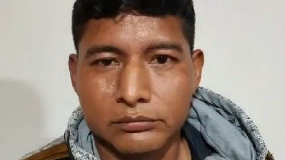 Photo of Edwin Characayo released by the Bolivian Interior Ministry at a news conference