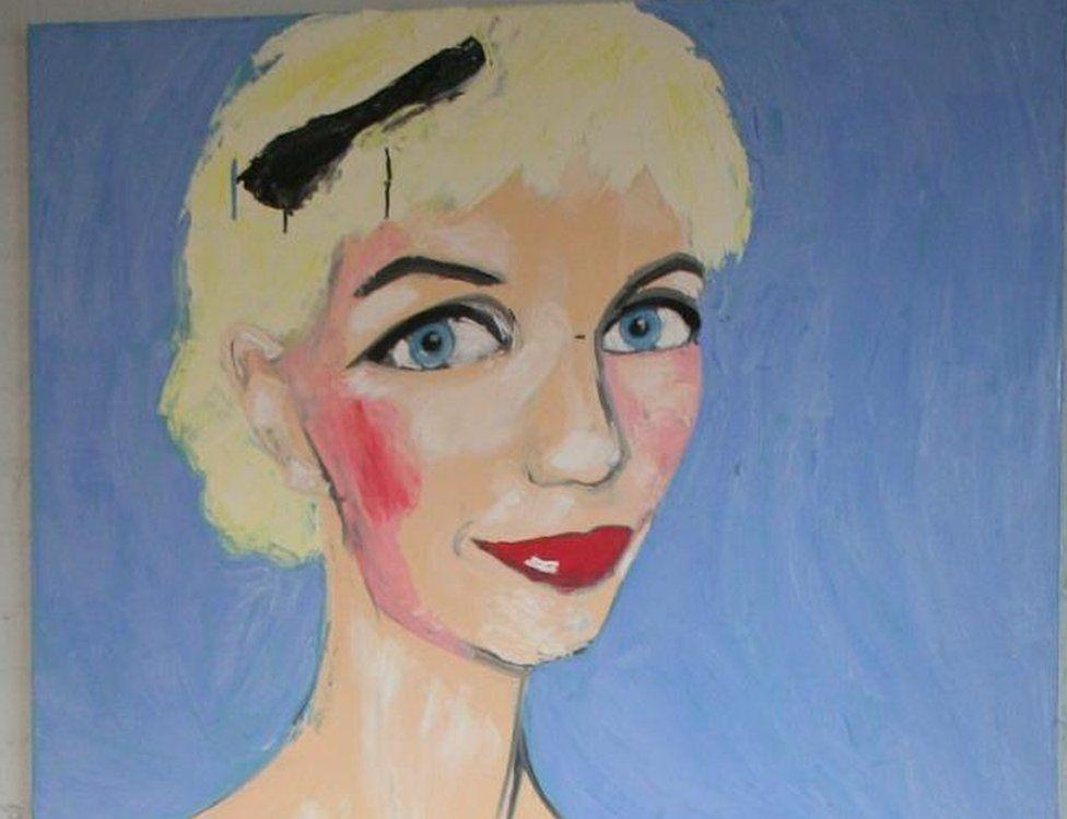 Stolen painting of Paula Yates