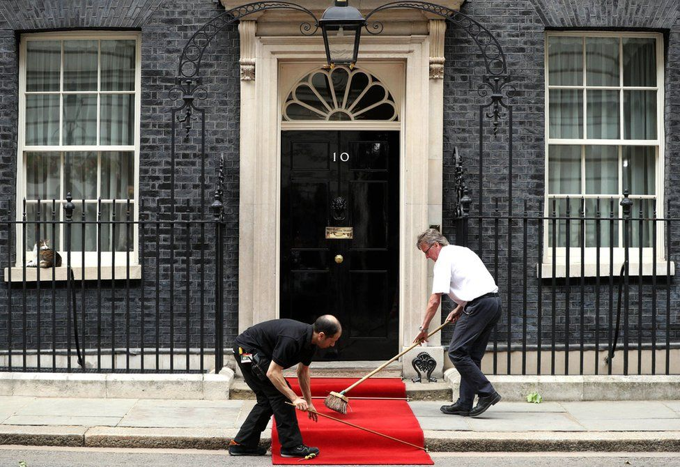 The red carpet was rolled out at Downing Street