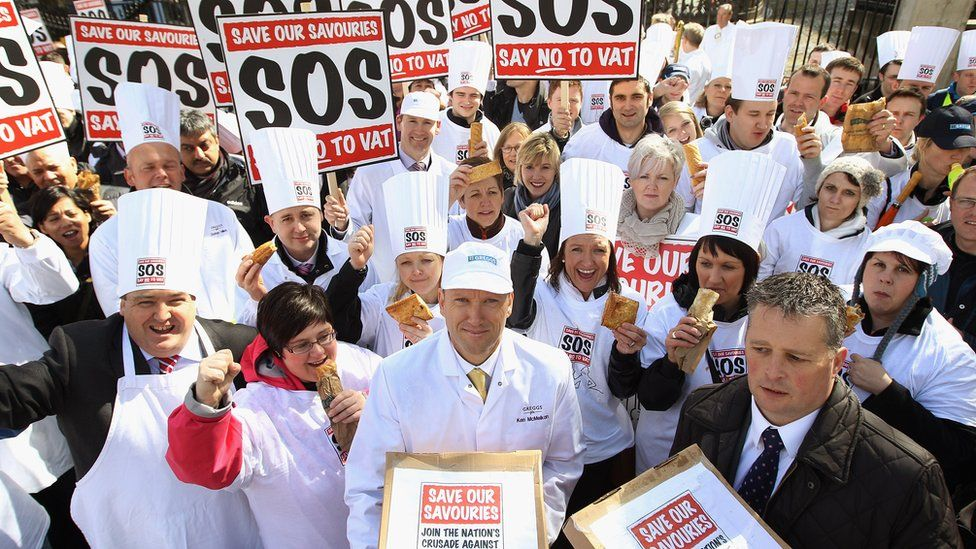 Bakers protest over pasty tax