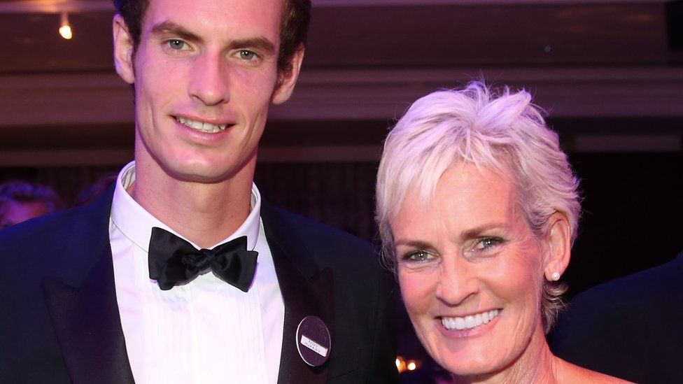 Andy Murray poses with his mum Judy Murray during the Wimbledon Championships 2013 Winners Ball on July 7, 2013