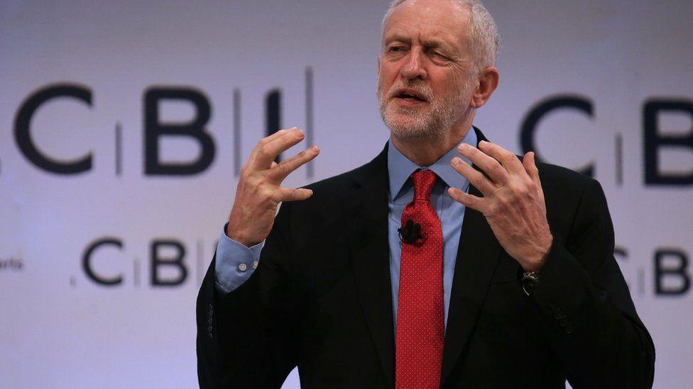 Jeremy Corbyn at CBI
