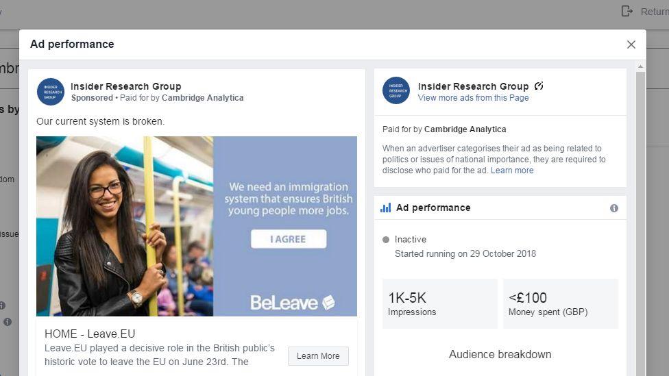 Facebook fake ad