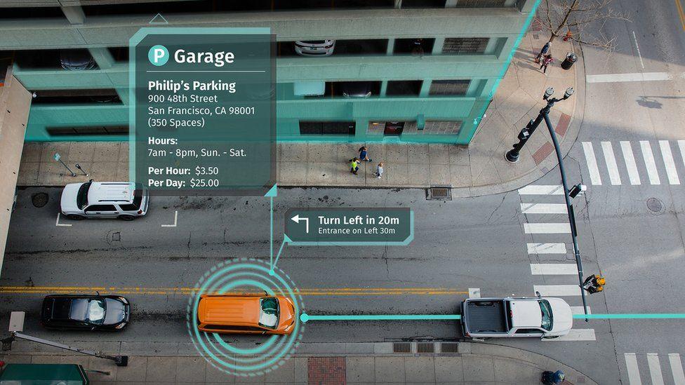 Screengrab of navigation/parking directions
