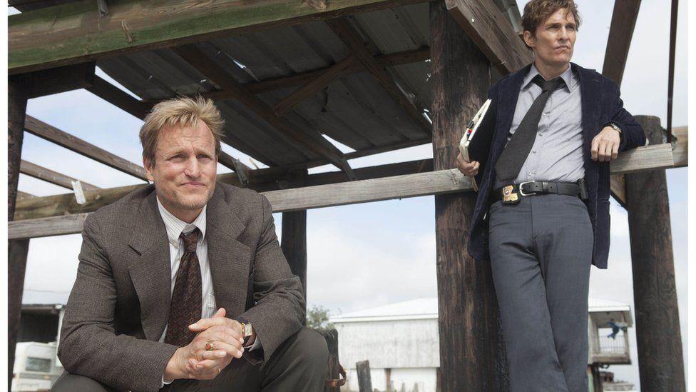 Picture of True Detective stars Woody Harrelson and Matthew McConaughey