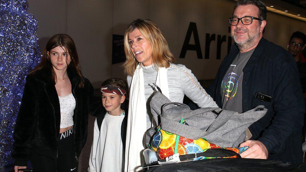 Kate Garraway with Derek Draper and their children