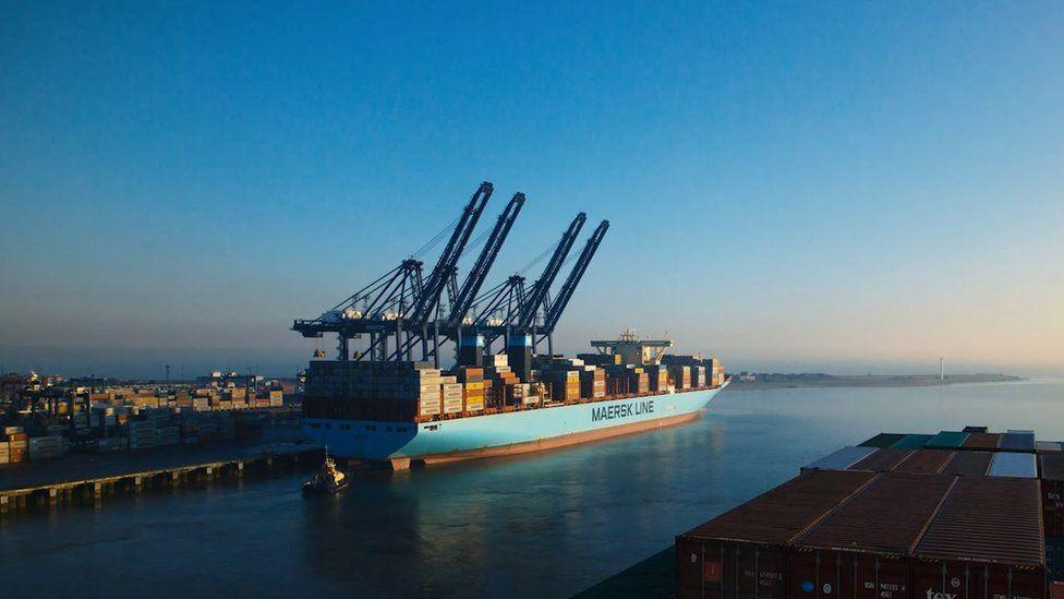 Ship coming into Harwich International