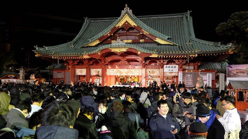 Año nuevo en Tokio, Japón
