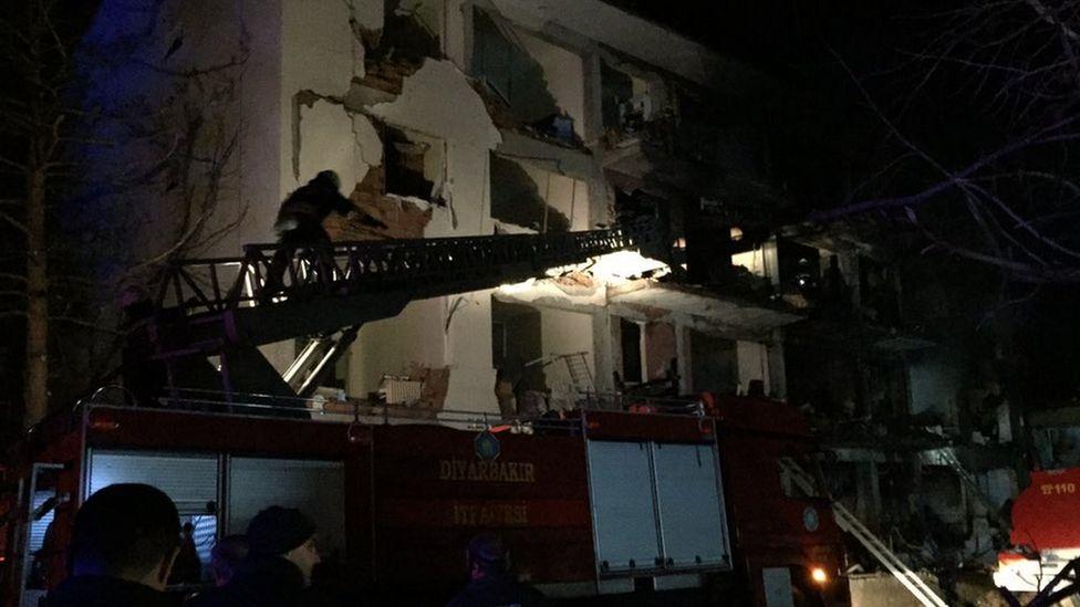 Destroyed building in Cinar
