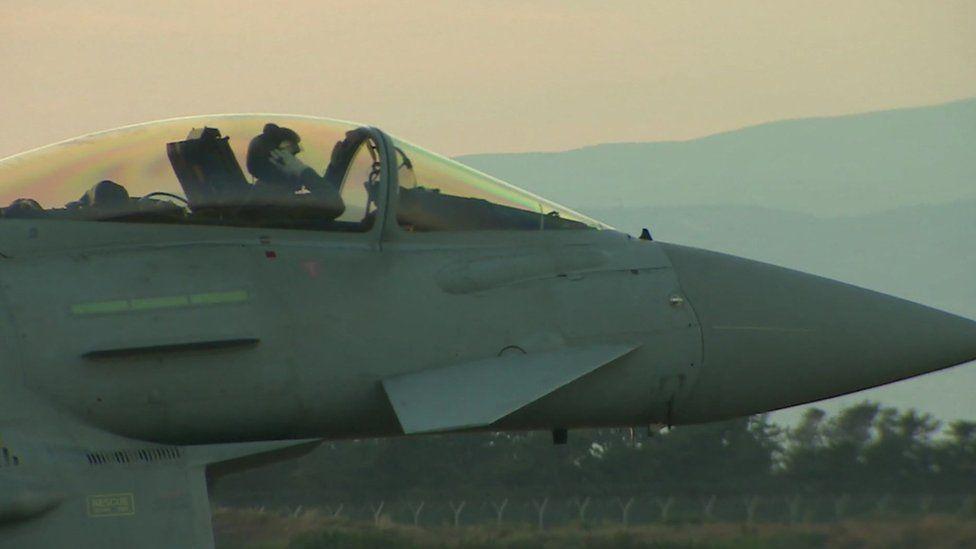 Cockpit of an RAF Tornado about to take off from RAF Akrotiri