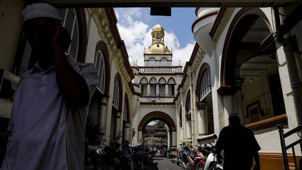 Men at a mosque in Kota Bharu