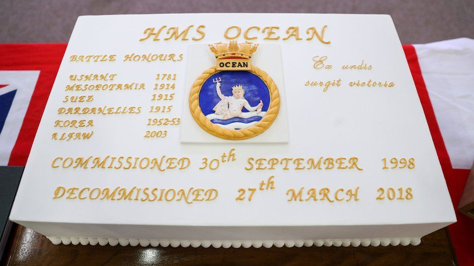 Cake for decommissioned HMS Ocean