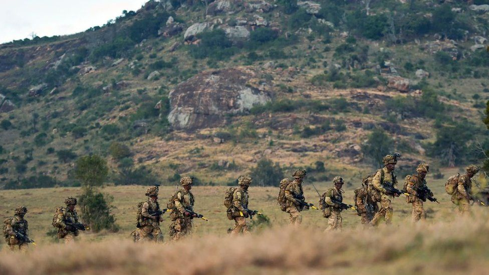 British soldiers at the Lolldaiga conservancy