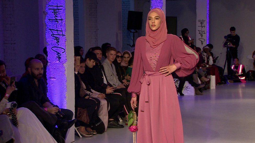 Model at Modest Fashion catwalk show