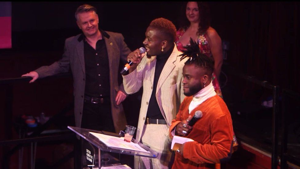 Young Fathers at Scottish Album of the Year awards