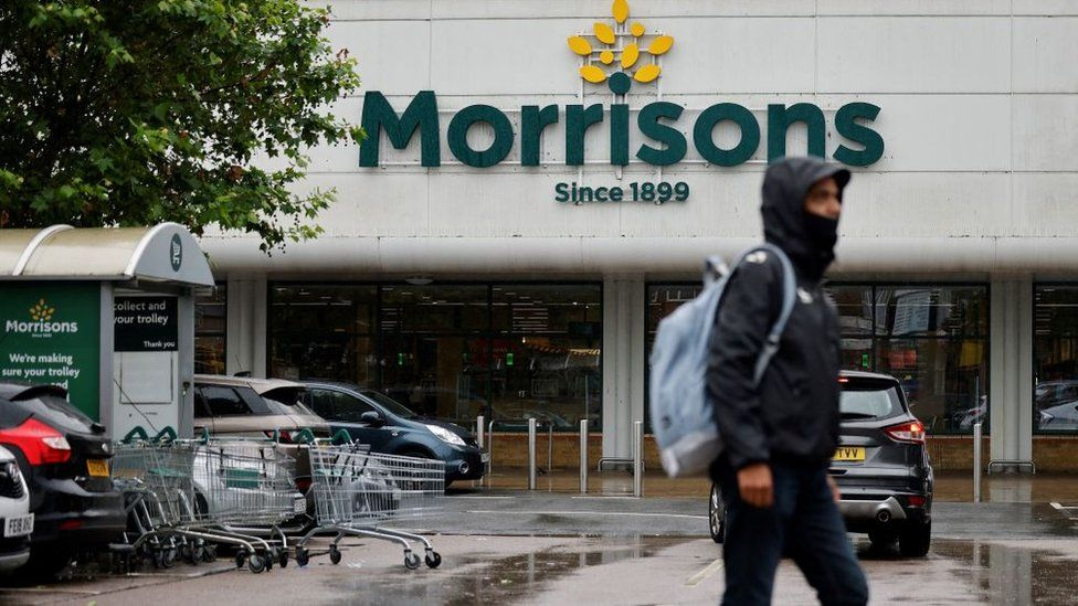 A shopper outside Morrisons