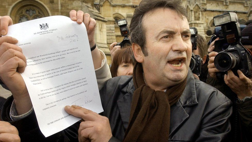 Mr Conlon received a letter of apology from Tony Blair