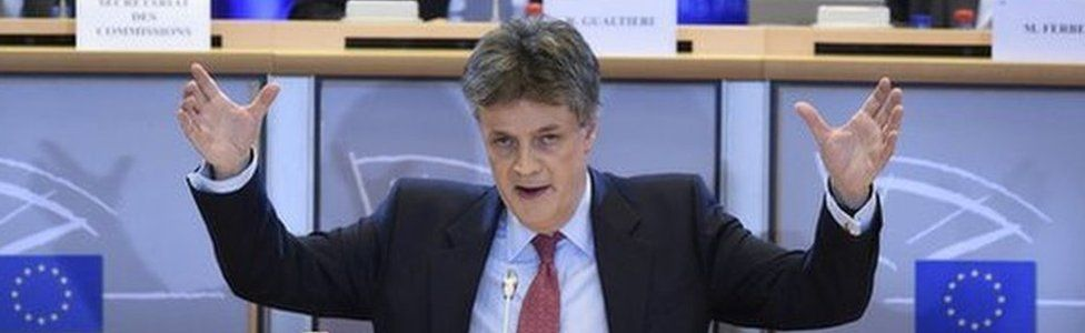 Lord Hill with MEPs, 1 Oct 14