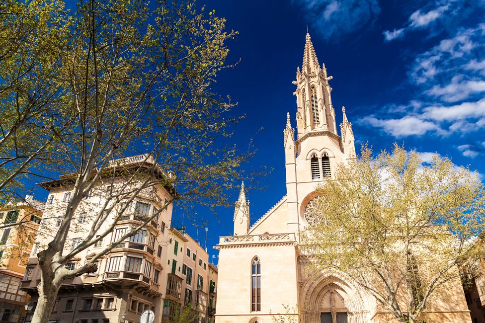 The church of Saint Eulalia in Palma, said to have been used by the families of Jewish converts