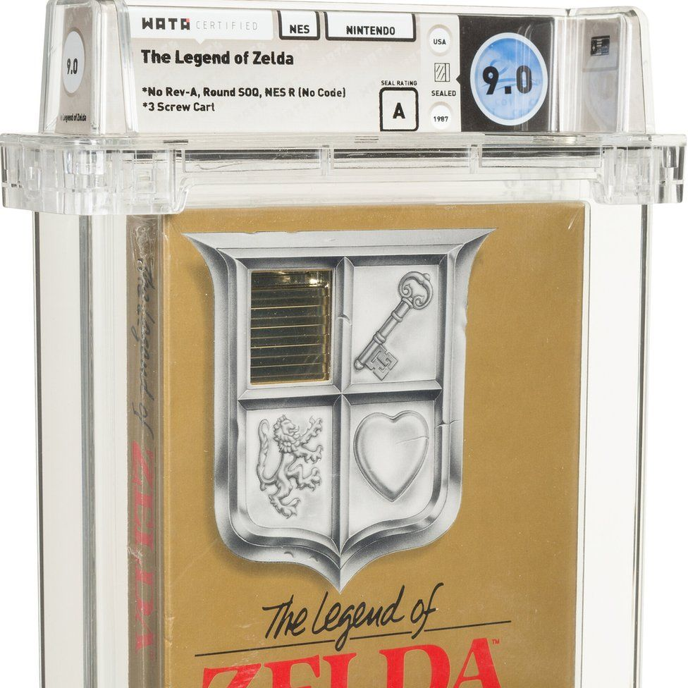 La caja de cartuchos dorada de Legend of Zelda