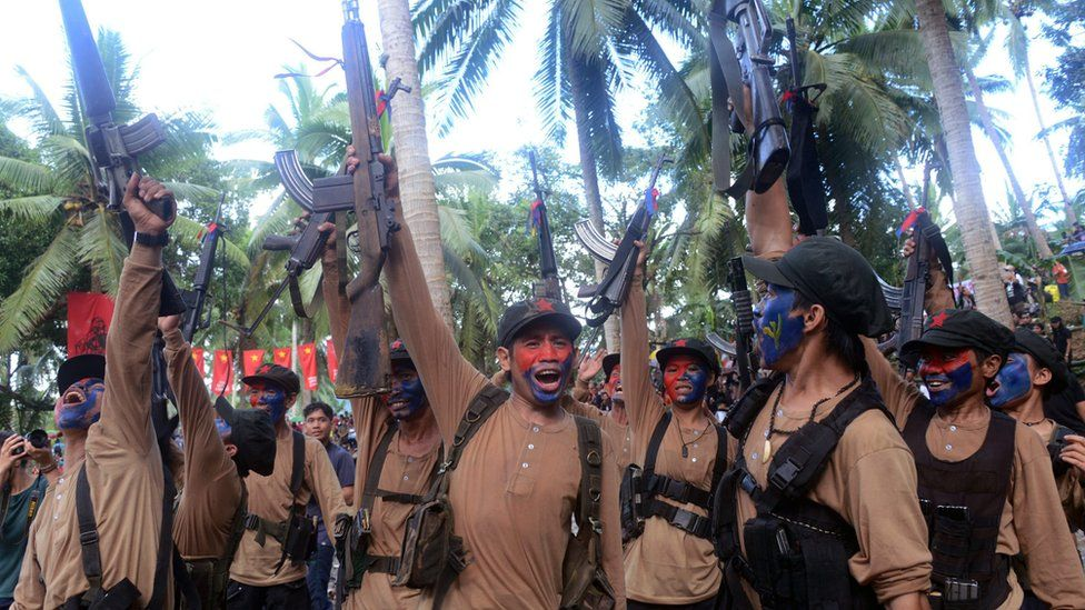 Filipino members of the communist rebels New People's Army (NPA), 29 December 2016