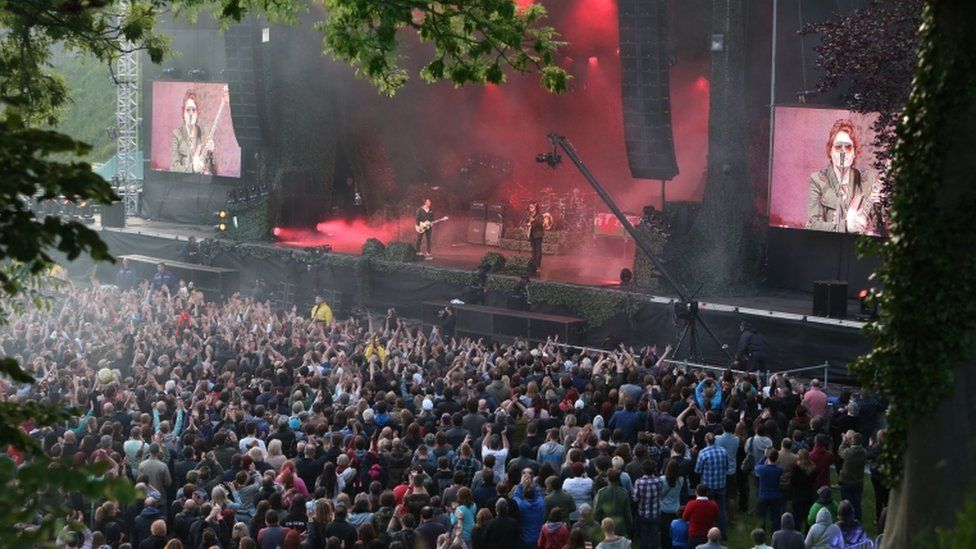 Manic Street Preachers Perform At Cardiff Castle