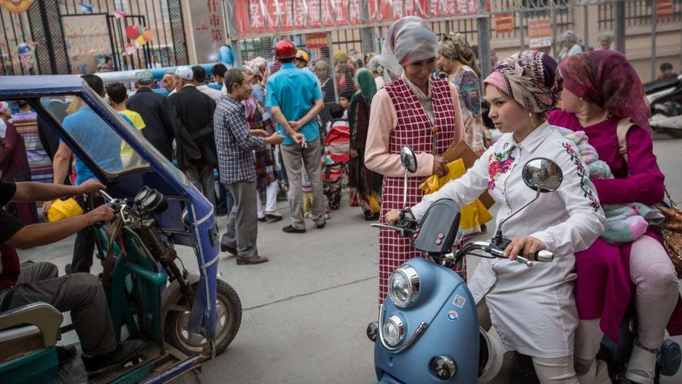 Uighurs in China's Kashgar City