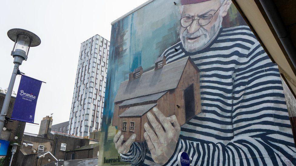 Art work in city centre