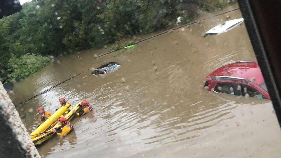Flooding in Broxburn
