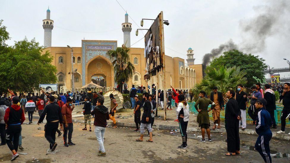 protests in Najaf 01/12