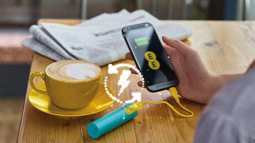 An advert for the free EE chargers