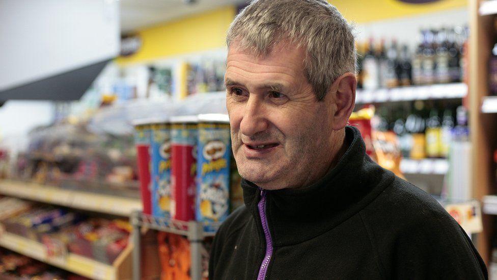 John Parkinson, shop owner, Penrhyn Bay