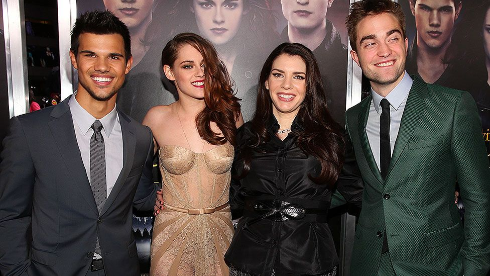 Cast of Twilight and author Stephenie Meyer
