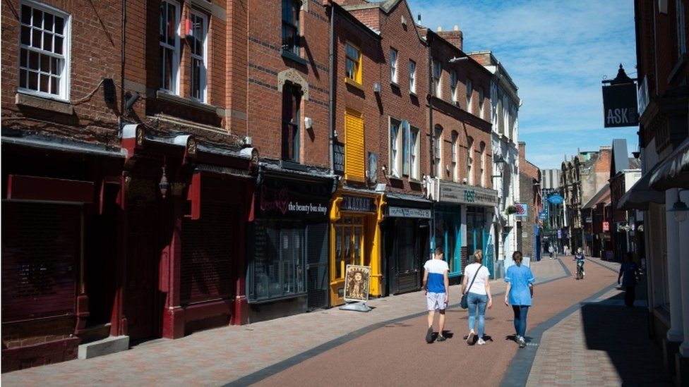 Street in Leicester 30 July 2020