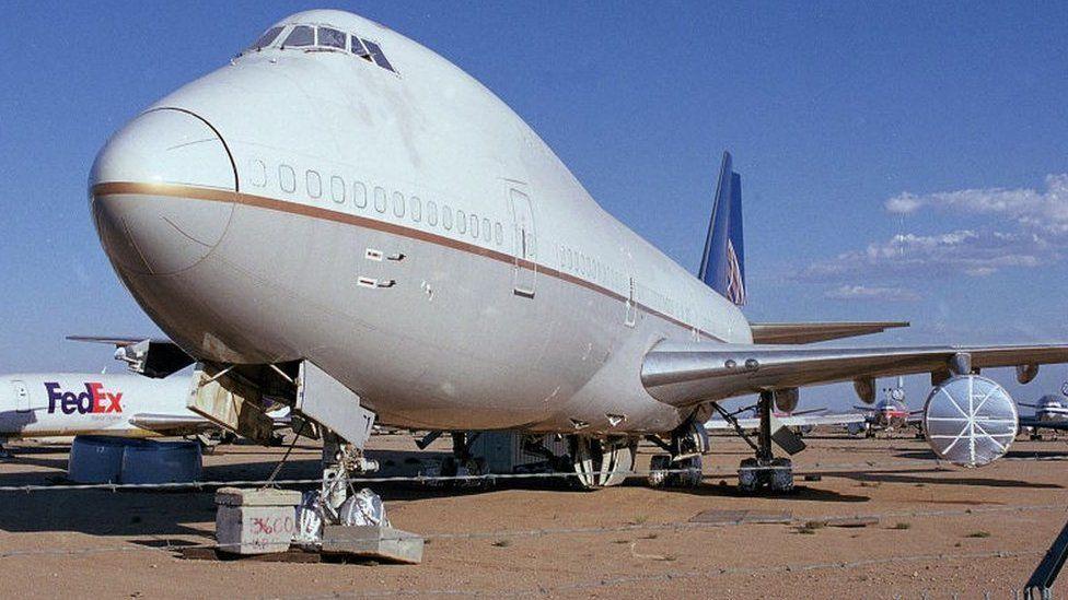 747 in storage
