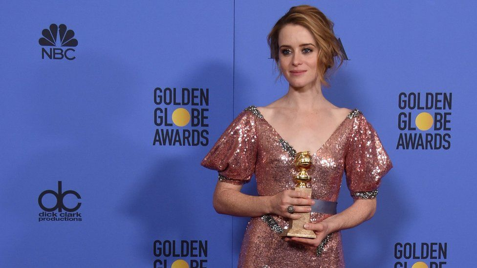 Claire Foy at the Golden Globes
