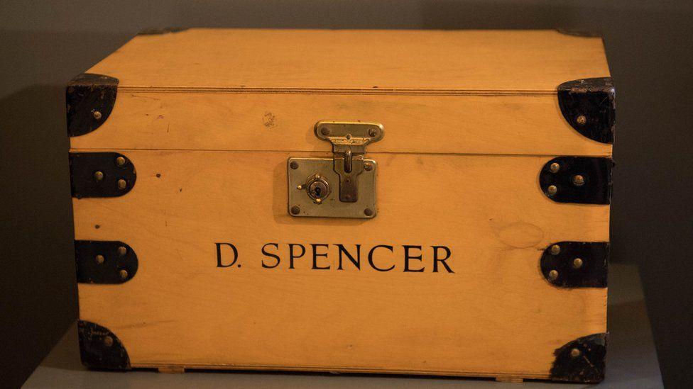 A box with Princess Diana's inscription on it