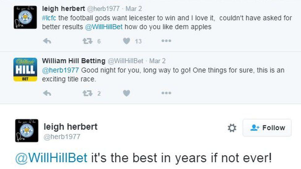 Leigh Herbert's Twitter timeline