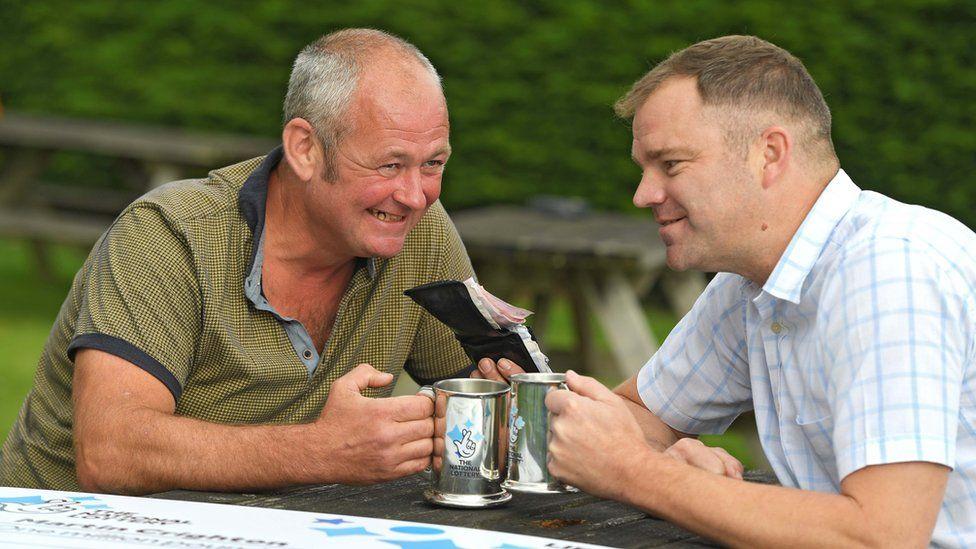 Martin and his friend Shaun Davis