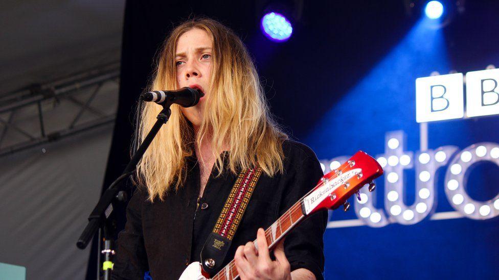 Issac Gracie on stage at Radio 1's Biggest Weekend in Swansea